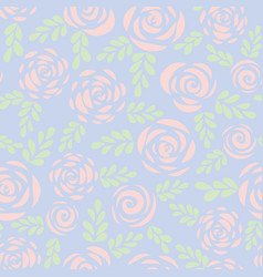 pastel roses seamless pattern background vector image