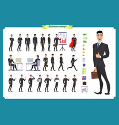 people character business setbusinessman vector image