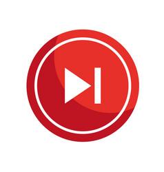 Play button icon vector
