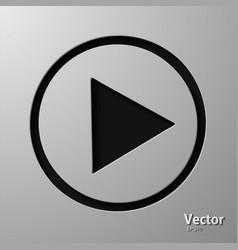 Play button web icon flat design vector
