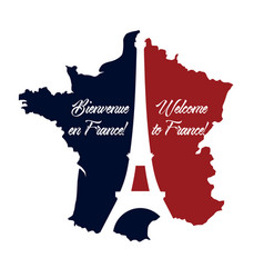 Poster welcome to france vector