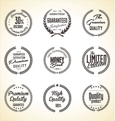 Premium quality laurel wreath collection vector