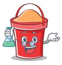 professor bucket character cartoon style vector image
