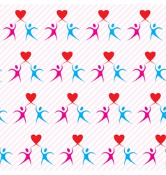 Romantic love symbol with lover heart seamless vector image vector image