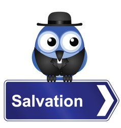 SALVATION vector image