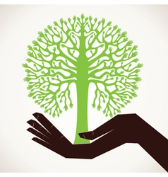 Save tree concept stock vector