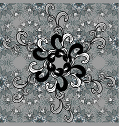 seamless pattern with on a gray black and blue vector image