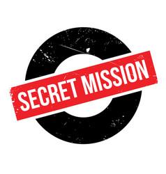 Secret mission rubber stamp vector