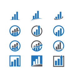 set business finance logo vector image