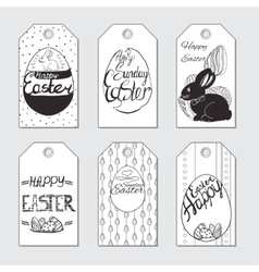 set gift card for Easter Hand drawn design vector image