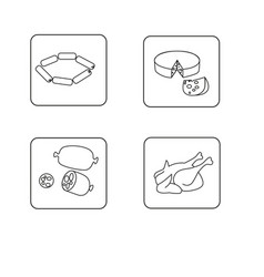 set of food template icons vector image