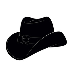 Sheriff hat icon isolated object side view vector