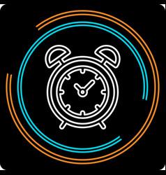 simple clock thin line icon vector image