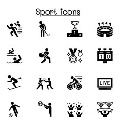sport icons set graphic design vector image