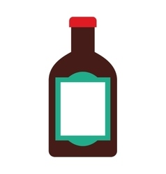 tequila bottle alcohol icon vector image