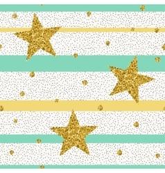 Trendy gold glittering confetti seamless pattern vector image