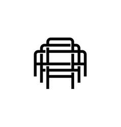 Triple a monogram aaa letter hipster lettermark vector