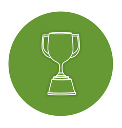 Trophy cup isolated icon vector