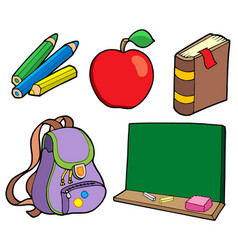 Various school items vector