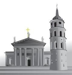 Vilnius Cathedral Basilica vector image