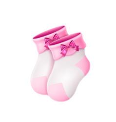 Wool baby socks newborn bacute socks 3d vector