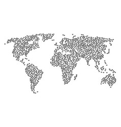 Worldwide map pattern of privacy mask items vector