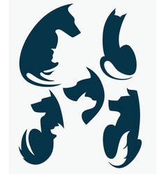 cats and dogs pets collection vector image