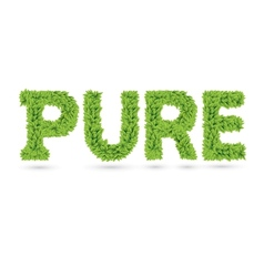 Pure text of green leaves vector image vector image