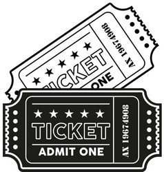 vintage modern ticket vector image