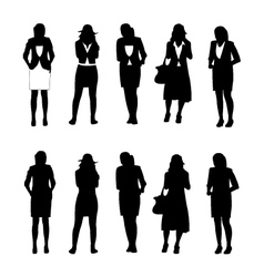Business woman figure vector image vector image