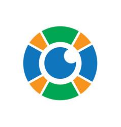circle eyecare logo image vector image