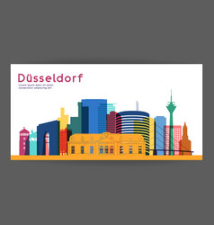 dusseldorf colorful architecture vector image