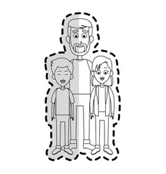 Happy father and children family icon image vector