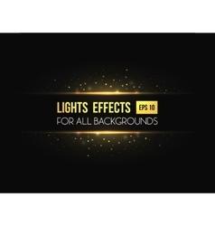 Horizon halo light through lens effect vector