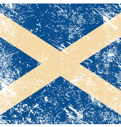 Scotland retro flag vector image