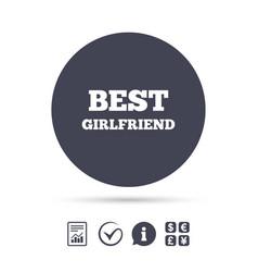 Best girlfriend sign icon award symbol vector
