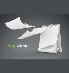calendar template with flying vector image vector image