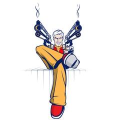 Cartoon Gangster Vector Image