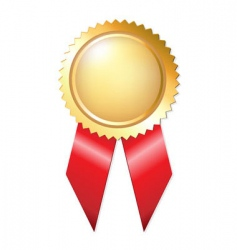 gold award ribbons vector image