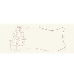 Hand drawn gift boxes sketch suitable for coupons vector image vector image
