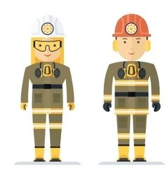 profession coal miner vector image vector image