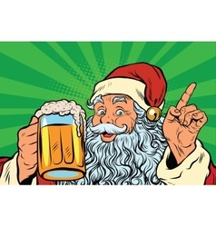 Santa claus with beer vector