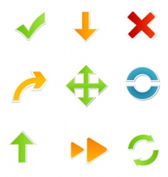 shapes of arrow vector image vector image