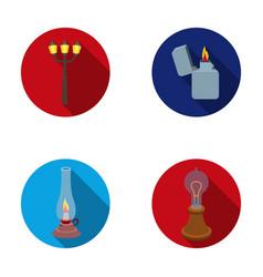 street lamp lighter kerosene lamp lamp of vector image
