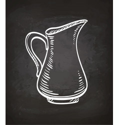 chalk sketch of milk jug vector image vector image