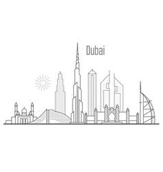 dubai city skyline - towers and landmarks vector image