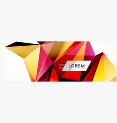 3d card on light backdrop abstract triangle vector image
