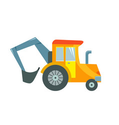 a toy tractor on a white vector image