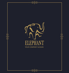 Abstract elephant icon vector