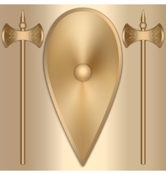 abstract of old gold Greek vector image